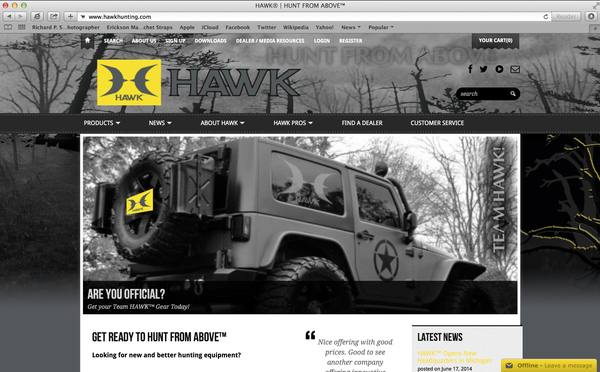 Hawk New Website