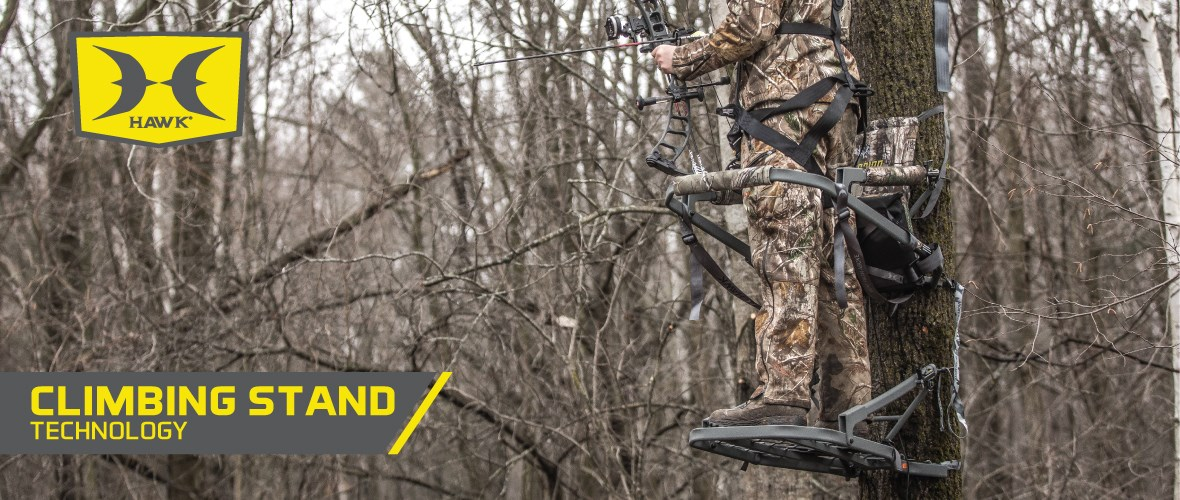 Hawk hunting climbing stand technology